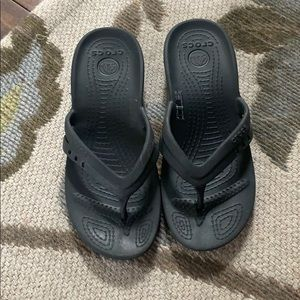 Girls Croc Flip Flops